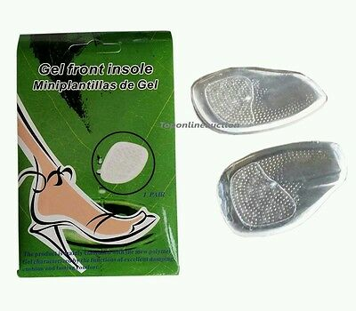 2 Pairs Ball of Foot GEL CUSHION Feet Pad Insoles for High Heeled Shoe Sandals