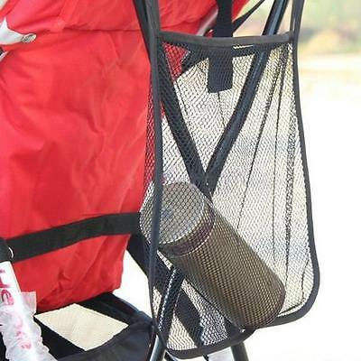 Baby Stroller Pram Pushchair Net Mesh Hanging Bag Organizer Diaper Storage LH