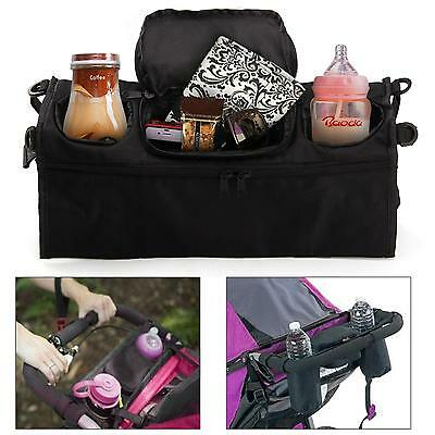 Pram Pushchair Stroller Buggy Cup Bottle Drinks Food Holder Storage Bag LH