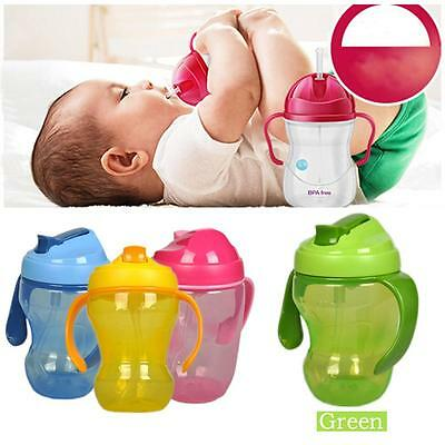 Children Training Infant Learning Drinking Handle Bottle BPA Free Sippy Cup