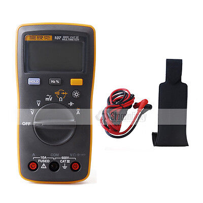 New Fluke 107 Handheld Digital Multimeter + Magnetic Pendant