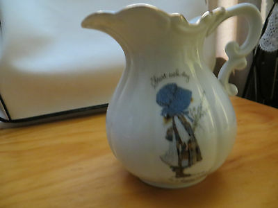 Holly Hobbie Pitcher Start each day in a happy way