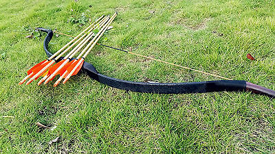 Good set Handmade bow Traditional Longbow recurve Bow 20lb-60lb +6 wooden arrows
