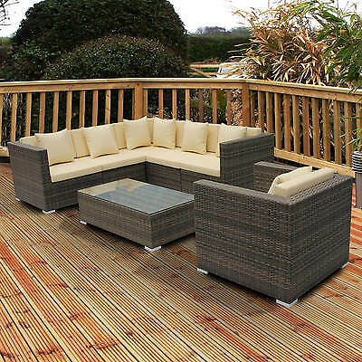 Rattan Garden Furniture Sofa Dining Table Set Conservatory Outdoor All Weather