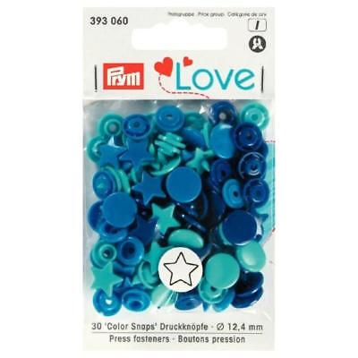 Prym Love Assorted Color Snaps Press Fasteners