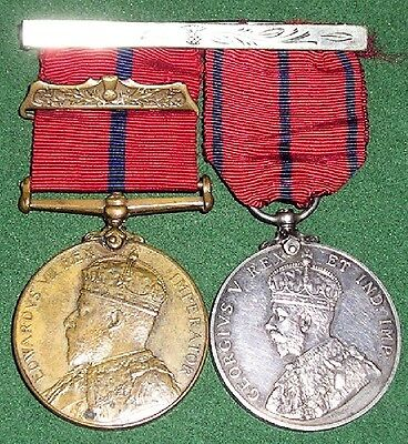1903 Visit To Scotland & 1911 Coronation Medals, Lieut Glasgow City Police Force