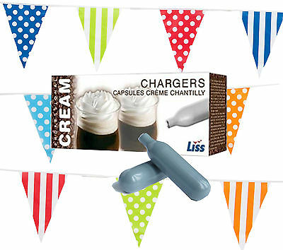 600 Whipped Cream Chargers 8g Liss Pure Nitrous Oxide Gas Canisters n2o NOS Case