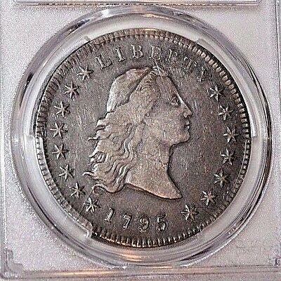 1795 Flowing Hair $1 One Dollar 3 Leaves Silver Dollar PCGS XF40