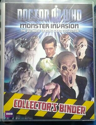 Dr who monster invasion trading card sets 1 + 2 in binder