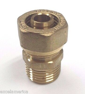 ". gasflex MALE Fitting 1620 3/4"" tubing one end & 3/4"" Male NPT other end (1 un)"