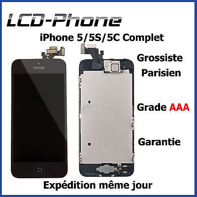 Kit Complet Vitre Tactile + Lcd + Camera + Home Pour Iphone 5/5C/5S Noir/blanc