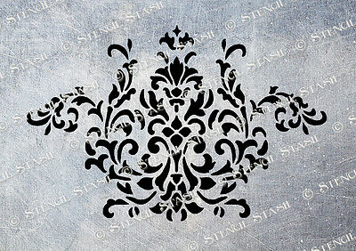 Damask STENCIL A5 FG Flourish Swirl French Country Vintage Chic Furniture Fabric