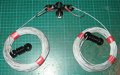 MONO BAND DIPOLE FOR 80 METERS Wire Antenna / Aerial for HAM RADIO UNIVERSAL