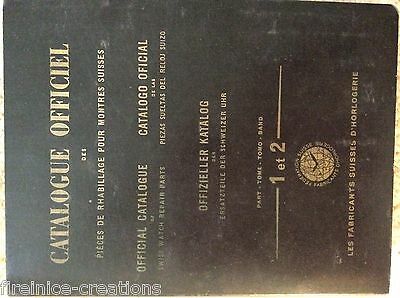 Watchmakers Catalogue Of Watch Repair Parts Vol 1 & 2 + Supplement 1955
