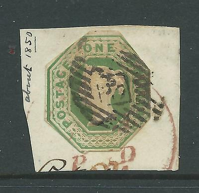 SG54 1s pale green QV Embossed stamp.