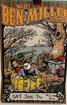 Vintage Poster The Ben Miller Band Great Graphics