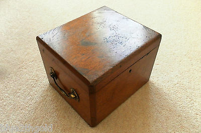 Beautiful Antique Mahogany / Brass Scientific Instrument ? Microscope ? Box