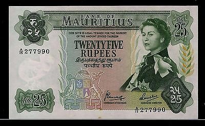 Mauritius  25 Rupees 1967  Banknote  # 13Bn-68