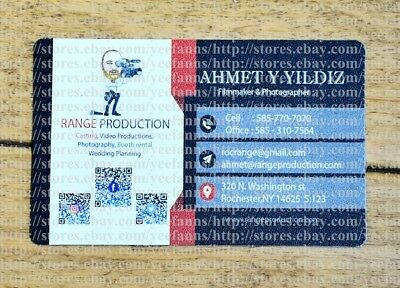 200 Full Color Matte PLASTIC PVC Round Corner Business Cards Double Sided typeII