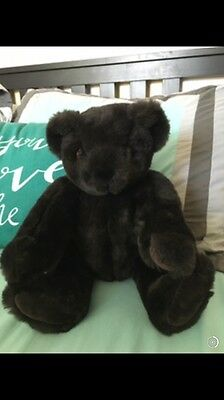 Vermont Teddy Bear Chocolate Brown in Excellent Condition! Cute!