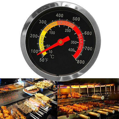 50-400℃ Barbecue BBQ Smoker Grill Stainless Steel Thermometer Temperature Gauge