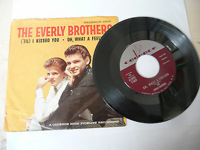 "THE EVERLY BROTHERS""TIL I KISSED YOU-disco 45 giri CADENCE Usa 1963"" PERFETTO"