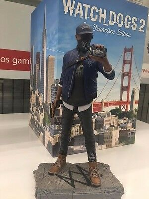 WATCH DOGS 2 SAN FRANCISCO Collectors Edition Marcus Statue in PC BOX NEW UK