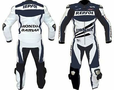 HONDA-REPSOL-1OR2-PC MOTORBIKE LEATHER SUIT,JACKET/TROUSER RACING MOTORCYCLE(Rep