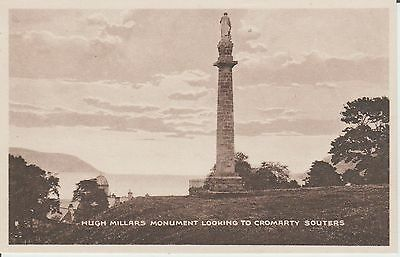 Cromarty - Hugh Millers Monument Looking To Souters -   Real Photo Postcard