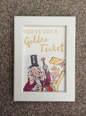 Charlie And The Chocolate Factory Golden Ticket Framed Print