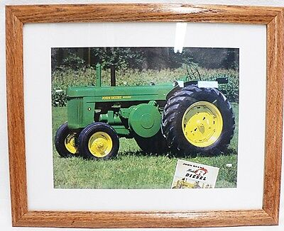 Framed And Matted John Deere Model R Diesel Tractor Picture Photograph