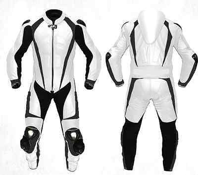 1-OR-2 PC Motorcycle Cowhide Leather Suit Motorbike LeatherSuit,Titanium Armour