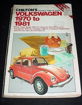 Volkswagen 1970 to 1981 Chilton's Repair Guide Beetle Karmann Ghia Transporter