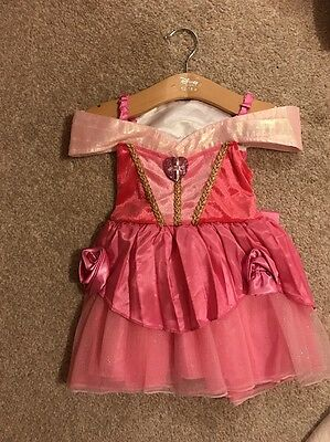 Official Disney Store Baby Girl Sleeping Beauty Dress Up 12-18 Month Brand New