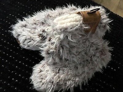 Primark Slipper Boots Faux Fur Size 6-8 New Gift
