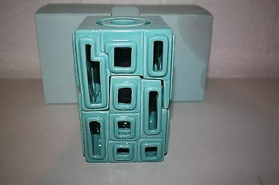 Partylite Contempo Reed Diffuser & Tealight Holder-Blue-NIB