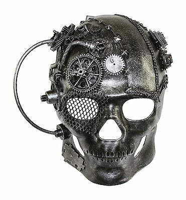 Full Face Skull The Terminator Steampunk Mask Hand Made Masquerade Mask NEW