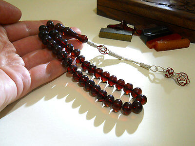 Slient Beauty -- %100 Original - AMBER BAKELITE -- PRAYER BEADS,TESBIH