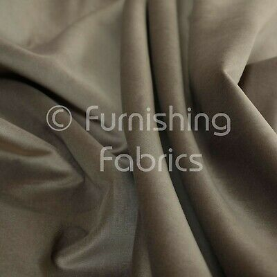 New Soft Plush Plain Glossy Velvet Modern Upholstery Curtain Fabrics Mink Brown