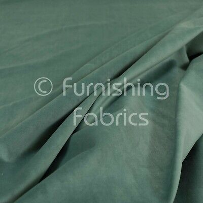New Soft Plush Plain Glossy Velvet Modern Upholstery Curtain Fabrics Aqua Green