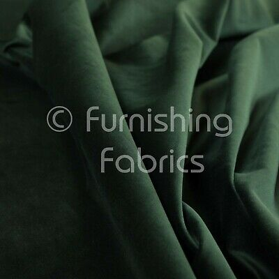 New Soft Plush Plain Glossy Velvet Modern Upholstery Curtain Fabrics Dark Green