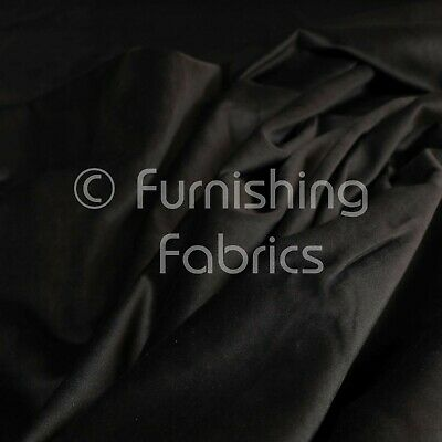 New Soft Plush Plain Glossy Velvet Modern Upholstery Curtain Fabrics In Black
