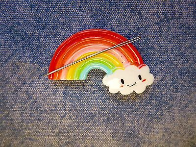 Rainbow Cloud Needle Minder Cross Stitch Neodymium Gift Packaged