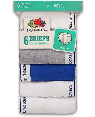 Fruit of the Loom Boys' Assorted Briefs 6-Pair, Large (14-16)