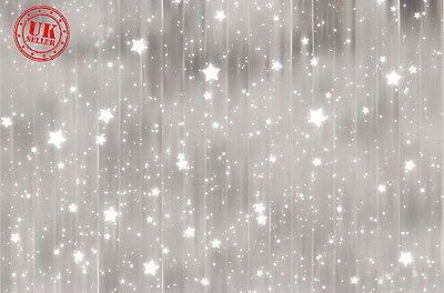 GREY LIGHT STAR FALL BABY BACKDROP BACKGROUND VINYL PHOTO PROP 5X7FT 150x220CM