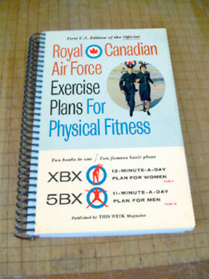 Royal Canadian Air Force Exercise Plans for Physical Fitness RCAF XBX 5BX 1962
