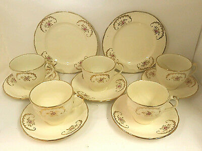 Vintage Alfred Meakin Cream and Gold Tea set