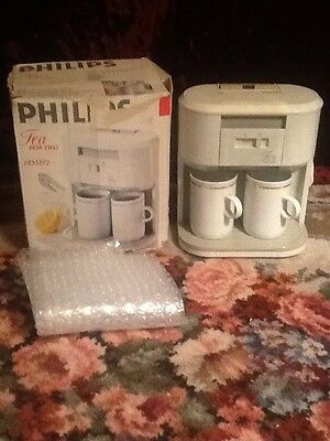 Retro Vintage PHILIPS Tea For Two Tea Coffee Maker HD5192 (2 Original Cups)