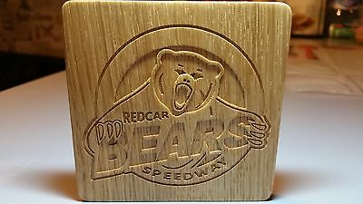 Redcar Bears, Handmade Oak coasters set of 6 pieces and Middlesbrough FC coaster