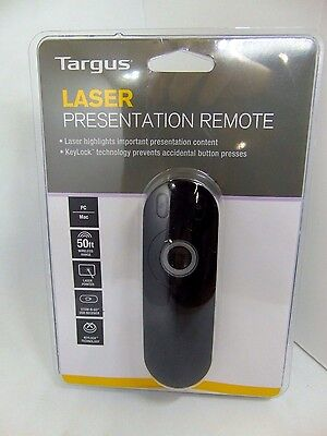 Targus Wireless Laser Presentation Remote AMP13US Black NEW!!